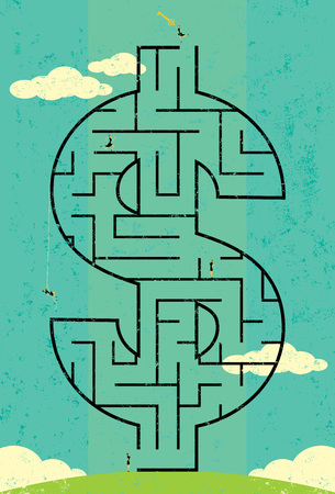 Key to Wealth Maze Ilustrace