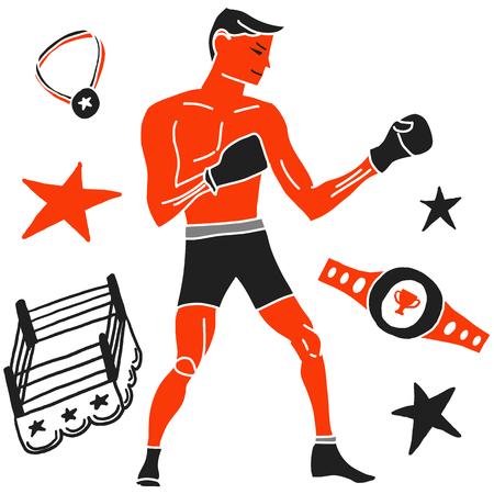 Boxer Ilustrace