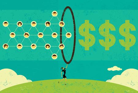 Monetizing Social Networks Ilustrace