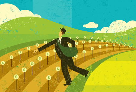 Planting the Seeds of Growth banner design Illustration