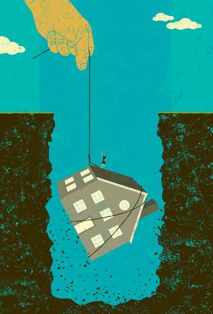 Home mortgage debt bailout banner design Ilustrace