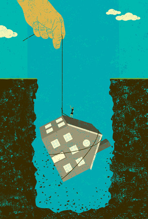 Home mortgage debt bailout banner design Illustration