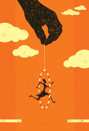 Jumping through a hoop banner design