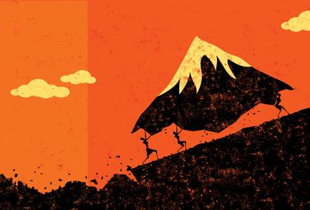 Moving Mountains banner design Ilustracja