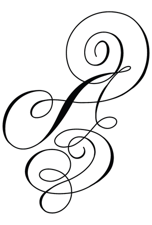 Calligraphy line art letter A