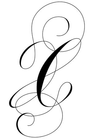 A calligraphic line art letter X Reklamní fotografie - 105423325