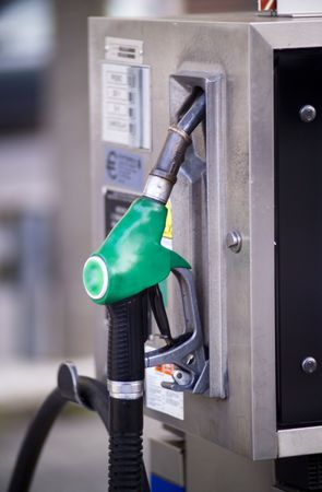 close  up detail of a gas pump in european petro station Stock Photo - 3652201