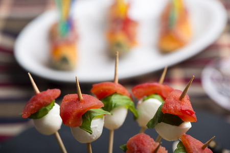 finger food and cold food for a summer fresh meal.