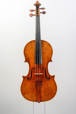 contemporary antiquized violin from cremona