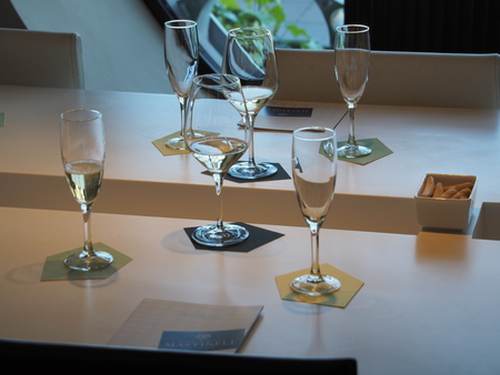 Tasting of champagne, wine and champagne Stock Photo