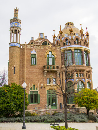 Modernist building of the Hospital de Sant Pau in Barcelona