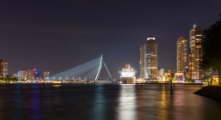 seafreight: Rotterdam Centre Stock Photo
