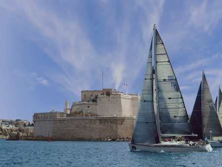 2017 Rolex Middle Sea Race - Valletta Harbor Editorial