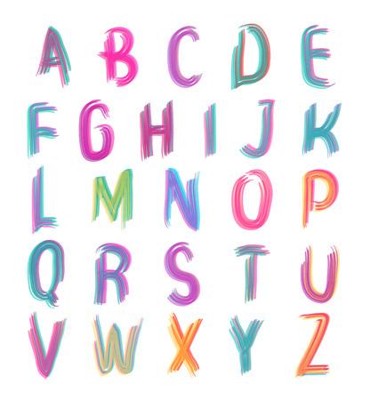 Felt-tip pen overlay font Vector