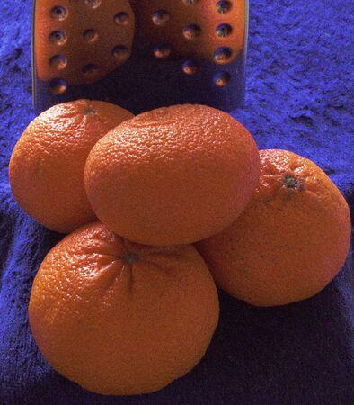 hot summer: Mandarinas desde el verano caliente. Foto de archivo
