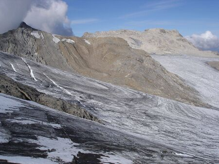 Brandner Glacier is located on the Swiss Austrian Border. It is one of the many highlights of the Rhatikon Hohenweg Trek.