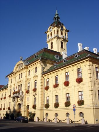 Neo-Baroque Style Town Hall Building In Szeged Hungary