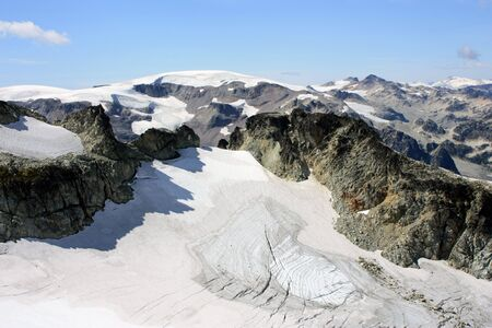 Ice Fields Viewed From The Top Of Brandywine Mountain (Coast Mountains, British Columbia, Canada)