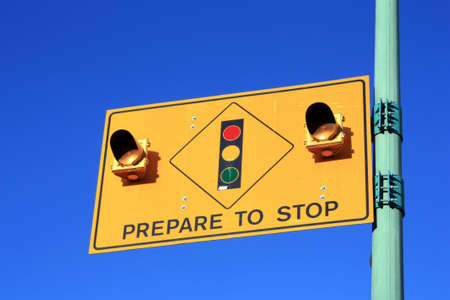 Prepare To Stop Road Traffic Sign Stock Photo