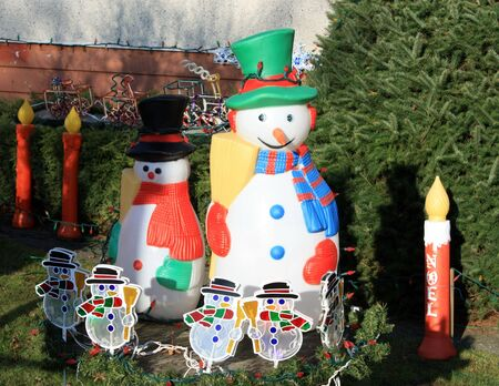 Outdoor Christmas Decorations Stock Photo