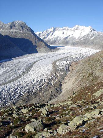 aletsch: Aletsch Glacier Europes Largest Glacier (Bernese Alps, Switzerland)