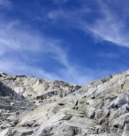 Mountain Rocks And Beautiful Blue Sky