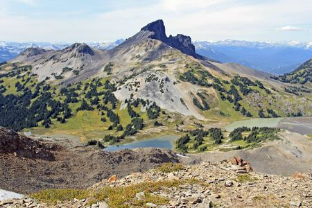 local landmark: Black Tusk a local landmark in Garibaldi Park British Columbia, Canada Stock Photo