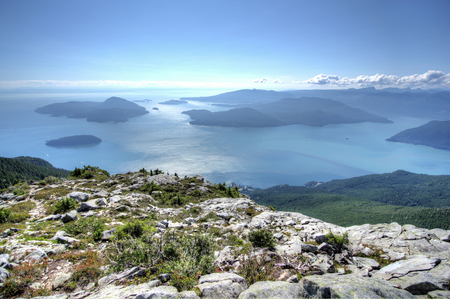 Howe Sound near Vancouver, British Columbia, Canada.