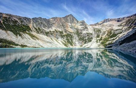antimony: The remote Antimony Lake in British Columbia, Canada. Stock Photo