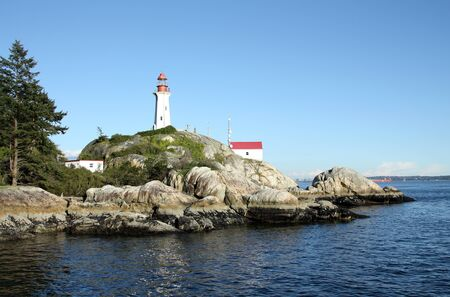 Point Atkinson Lighthouse in Lighthouse Park in West Vancouver, British Columbia, Canada. Stock Photo