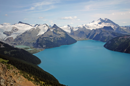 Garibaldi Lake and Massif in Garibaldi Provincial Park near Whistler, BC, Canada.