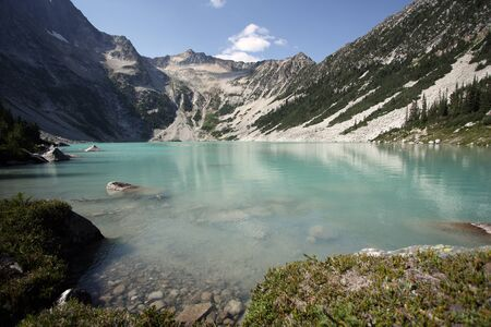 antimony: Antimony Lake in the the Coast Mountains of British Columbia, Canada.