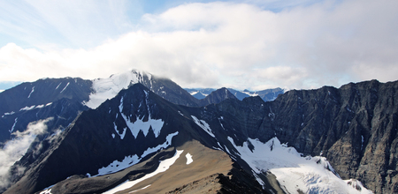 Landscape in Auriol Range, Kluane National Park, Yukon Territory, Canada. Stock Photo