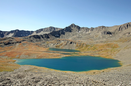 Saddlebag Lakes in Downton Creek drainage area (Coast Mountains of British Columbia, Canada).