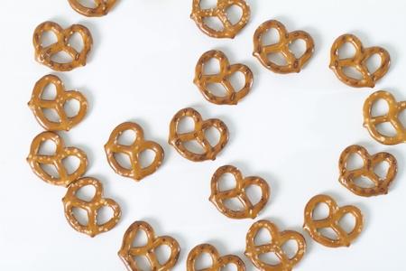 pretzels: pretzels displayed in shape of pretzel  shot from above