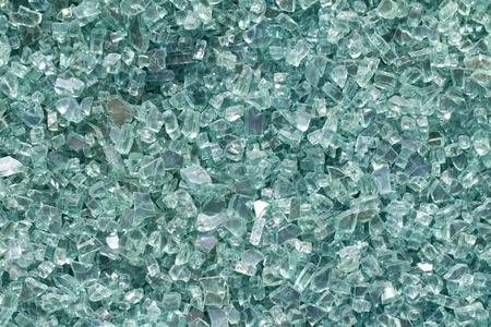 medium shot: a medium shot of broken glass from above Stock Photo