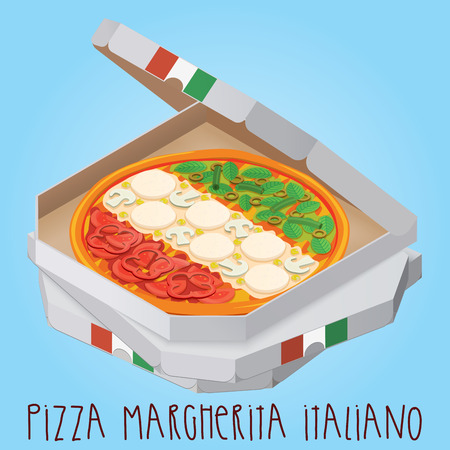 The real Pizza Margherita Italiano. Italian Pizza Margherita.