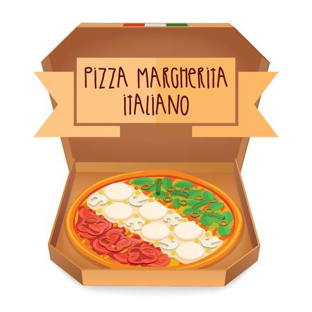 margherita: The real Pizza Margherita Italiano. Italian Pizza Margherita.