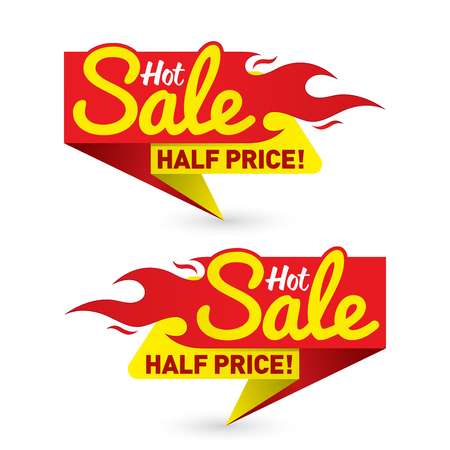 Hot sale price offer deal labels templates Ilustração