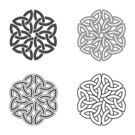 Celtic knot. Ethnic ornament. Geometric design.