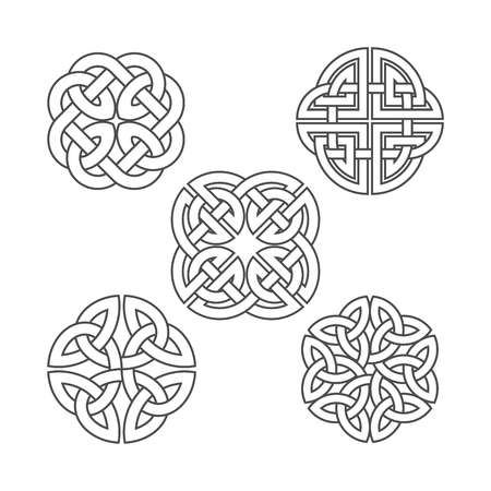 Vector celtic knot. Ethnic ornament. Vettoriali