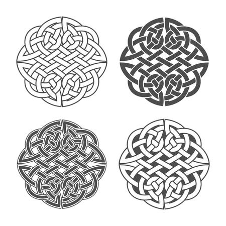 Vector Keltische knoop. Etnische versiering. Geometrisch ontwerp