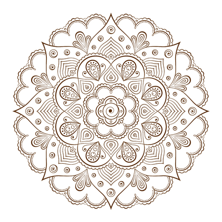 based: Background or tattoo frames based on traditional Asian ornaments Illustration