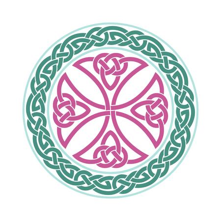 Vector Keltisch kruis. Etnische versiering. Geometrisch ontwerp