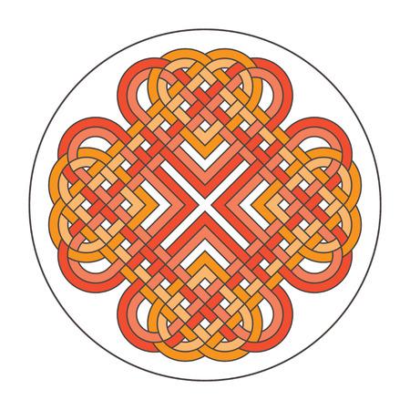 Vector heart celtic cross. Ethnic ornament Geometric design T-sh