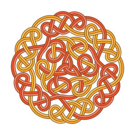 Vector Keltische cirkel kruis Stock Illustratie