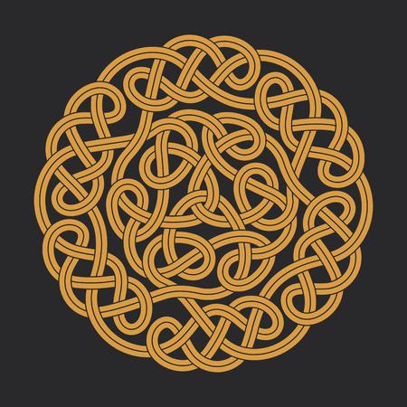 Vector celtic circle cross Illustration