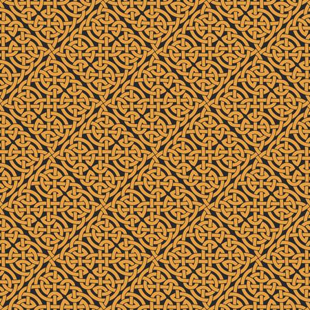 Naadloze Keltische knoop oneindigheid patroon. Vector illustratie Stock Illustratie