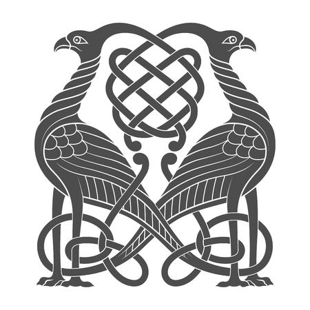 Ancient celtic mythological symbol of bird
