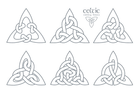 Vector celtic trinity knot  part 2. Ethnic ornament. Geometric d Illustration